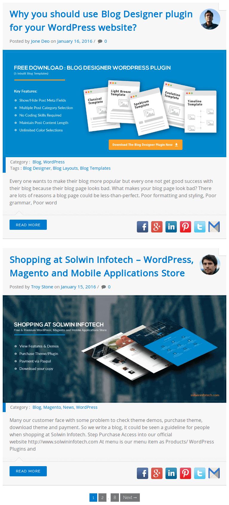 Blog designer wordpress plugin documentation preview blog page maxwellsz