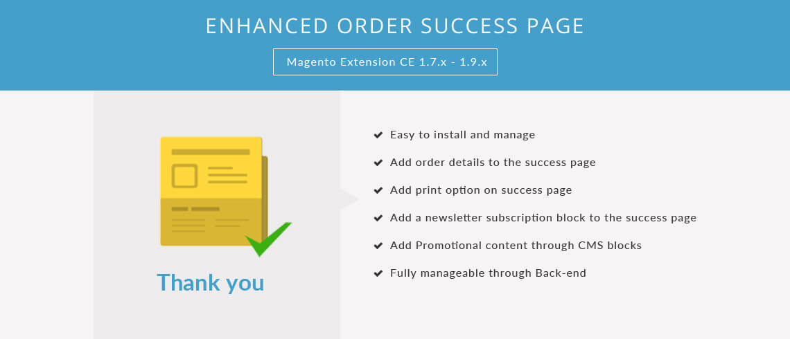 Enhanced Order Success Page - Magento Extension