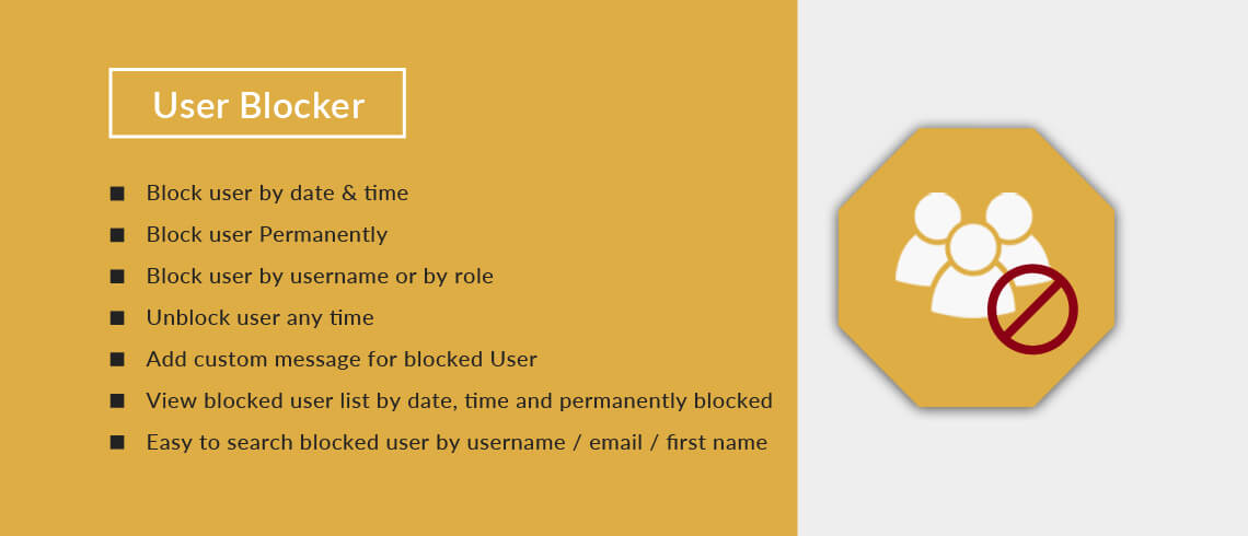 User Blocker - WordPress Plugin