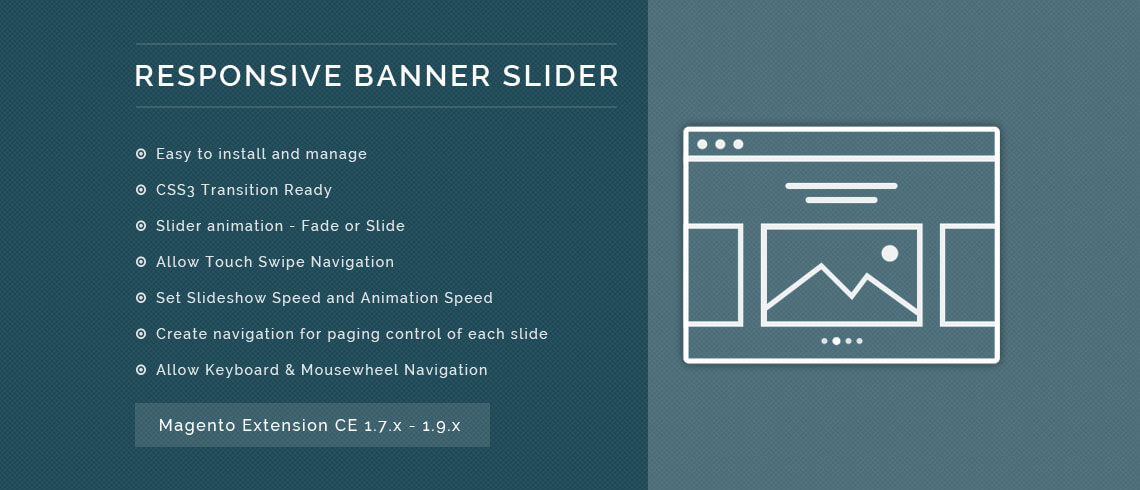 Responsive Banner Slider - Magento Extension