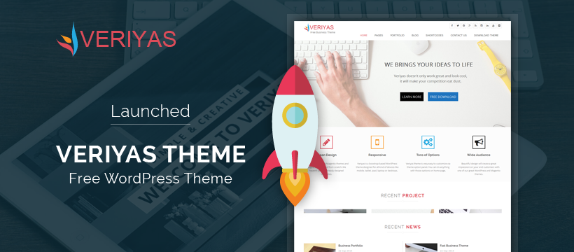Launched Veriyas Theme