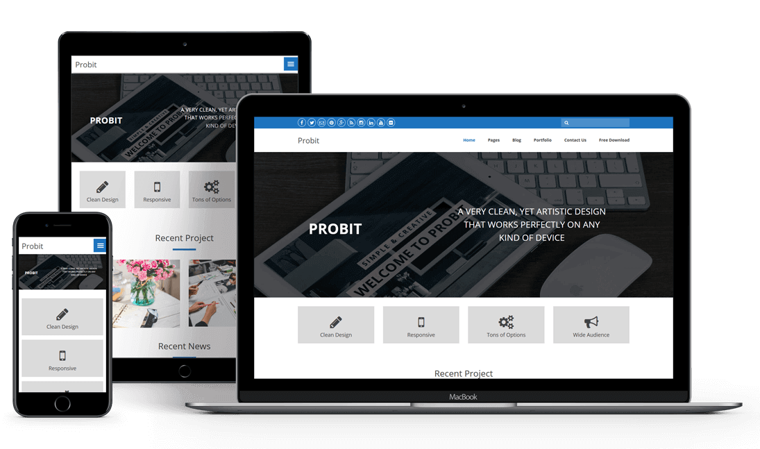Probit - Free WordPress Theme
