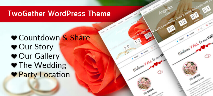 WordPress Wedding Theme – TwoGether