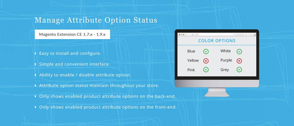 Manage Attribute Option Status - Magento Extension
