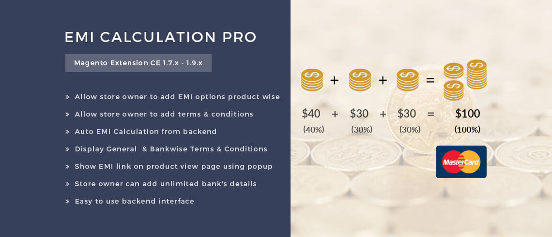 EMI Calculation Pro - Magento Extension