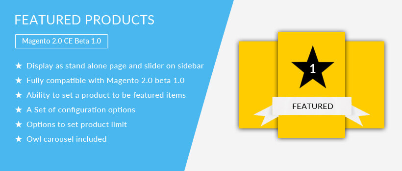 Featured Products - Magento 2 Extension