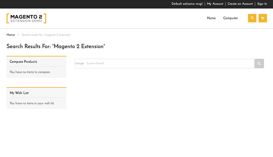 Google Custom Search Integration - Extension for Magento® 2