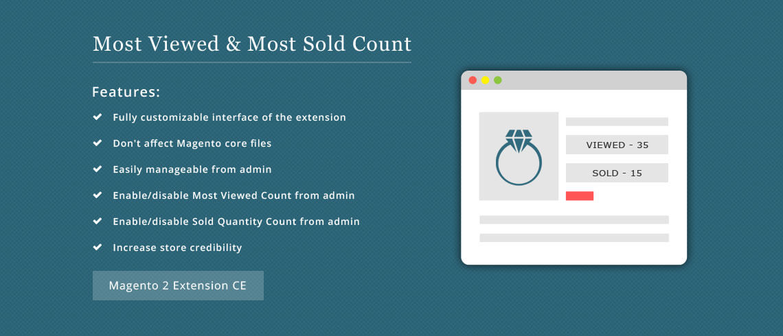 Most Viewed and Sold Product Count - Magento 2 Extension