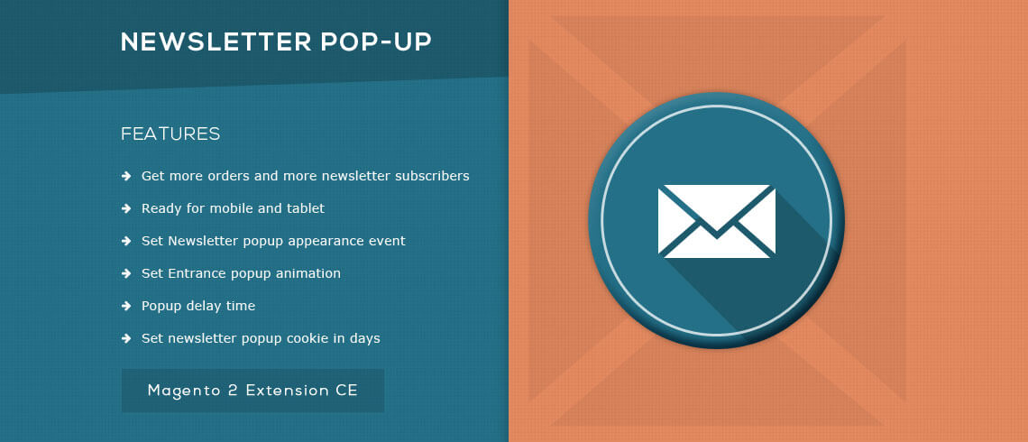 Advanced Newsletter Popup - Magento 2 Extension