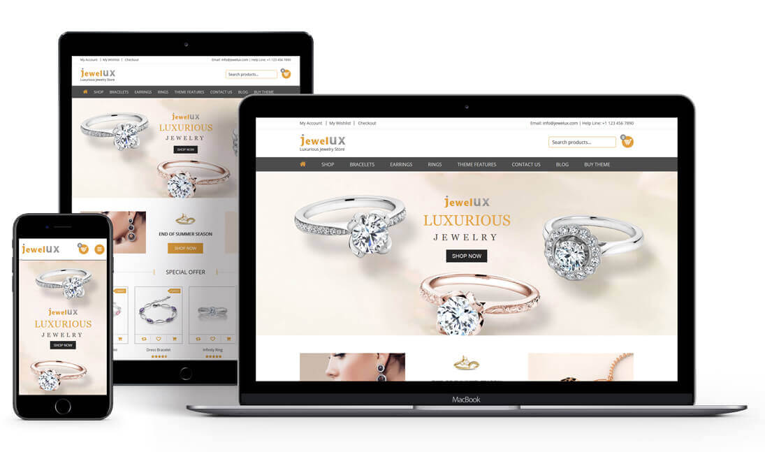 JewelUX - Jewelry WordPress Theme
