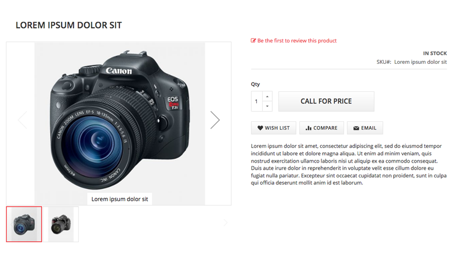 Call For Price - Product View Page