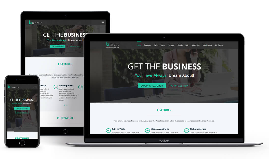 Biznetic - WordPress Business Theme