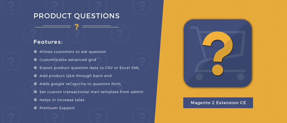 Product Questions - Magento 2 Extension