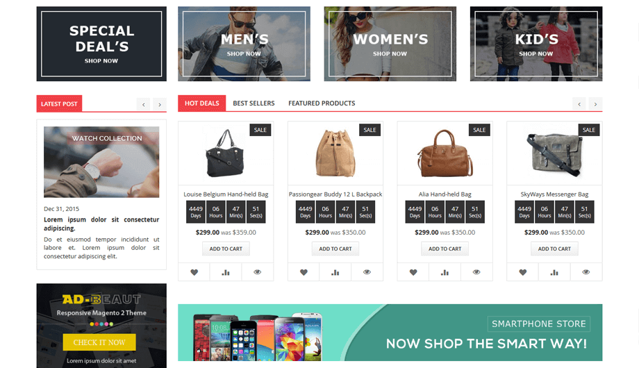 Shoptica Magento 2 Theme - Home Special Deal Block