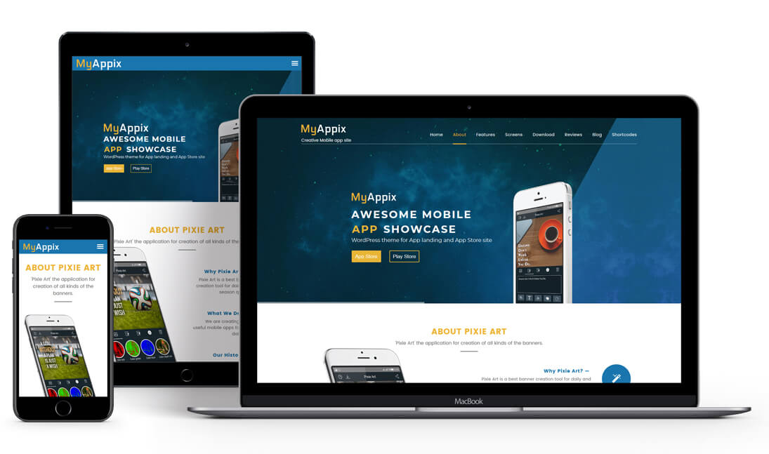 MyAppix - Mobile App WordPress Theme