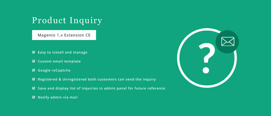 Product Inquiry - Magento Extension