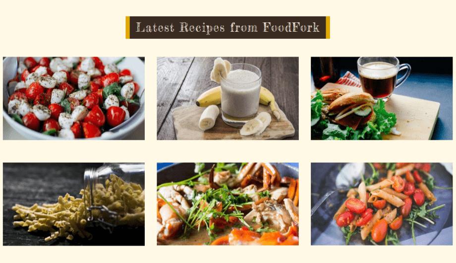 FoodFork - Latest Recipes