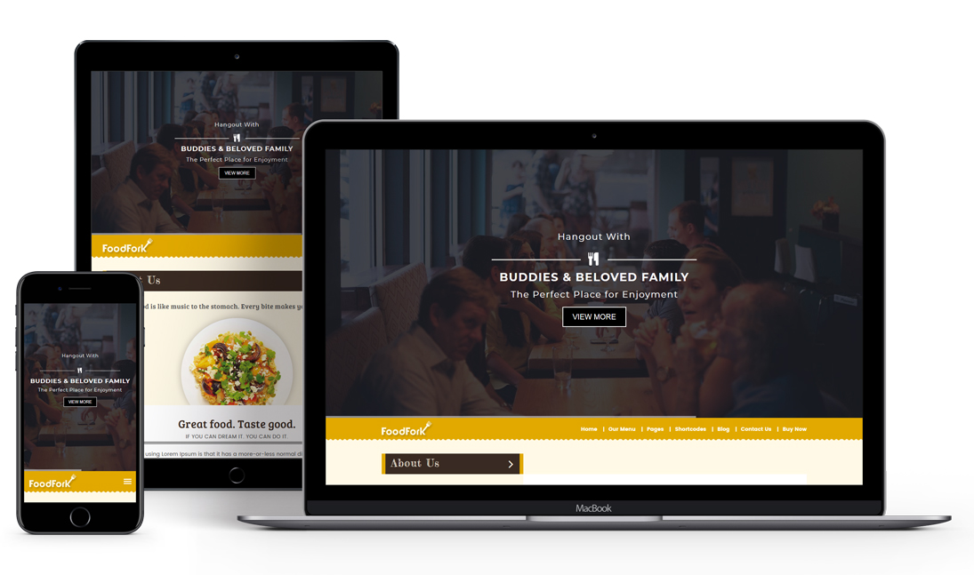 Foodfork Premium Restaurant Wordpress Theme Cafe Theme
