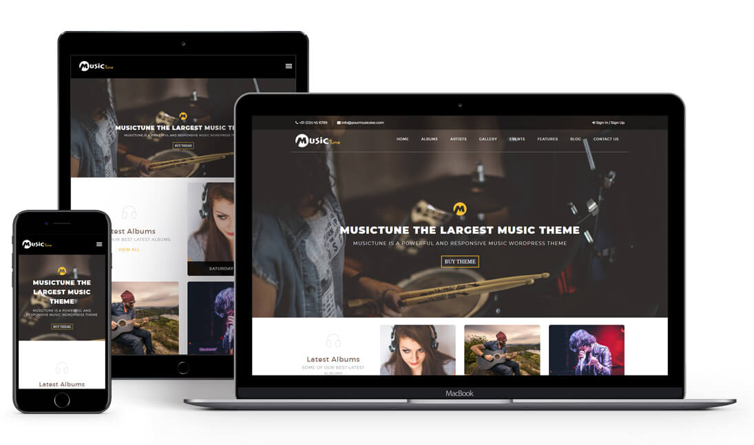 MusicTune - Music WordPress Theme