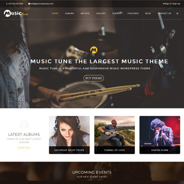 MusicTune - WordPress Music Theme