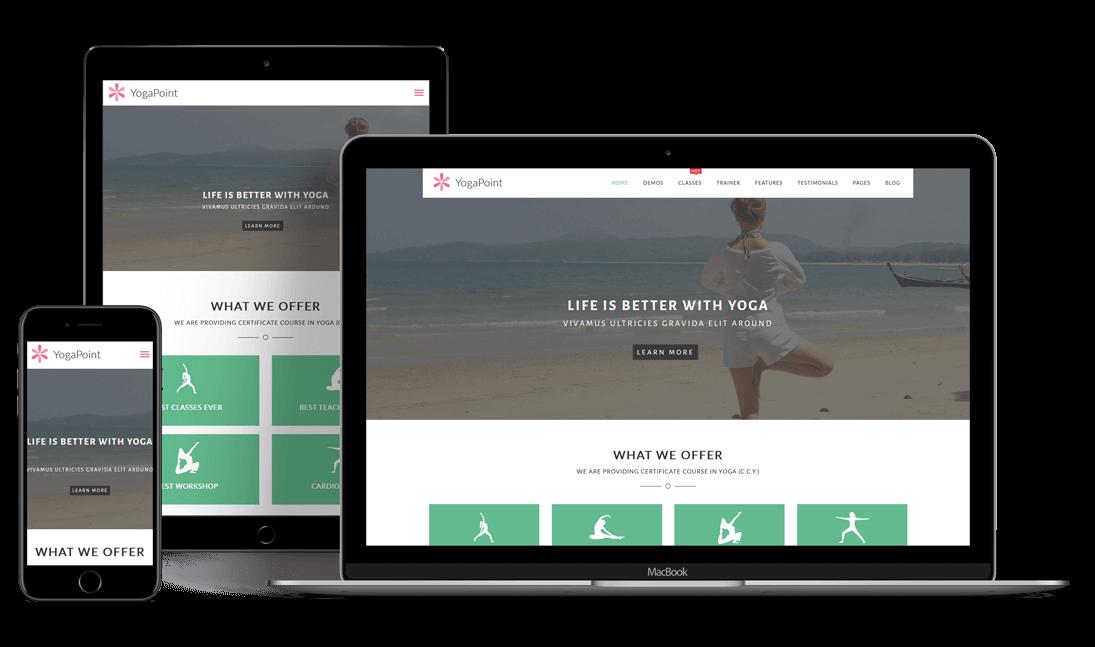 YogaPoint Responsive WordPress Theme
