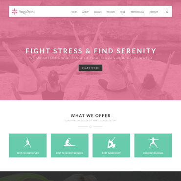 Yoga Point - WordPress Yoga Theme