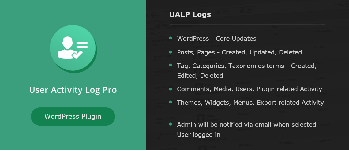 User Activity Log Pro - WordPress Plugin