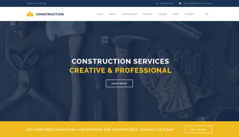 Real Construction – Home Page Banner