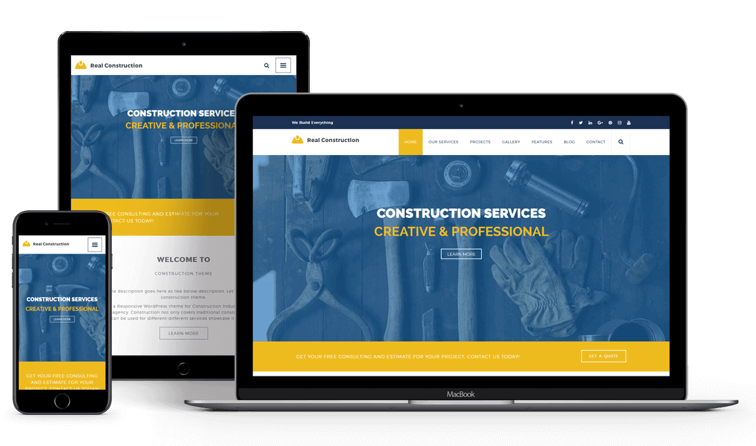 Real Construction - Construction WordPress Theme