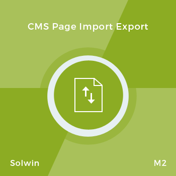 CMS Page Import/Export - Magento 2 Extension