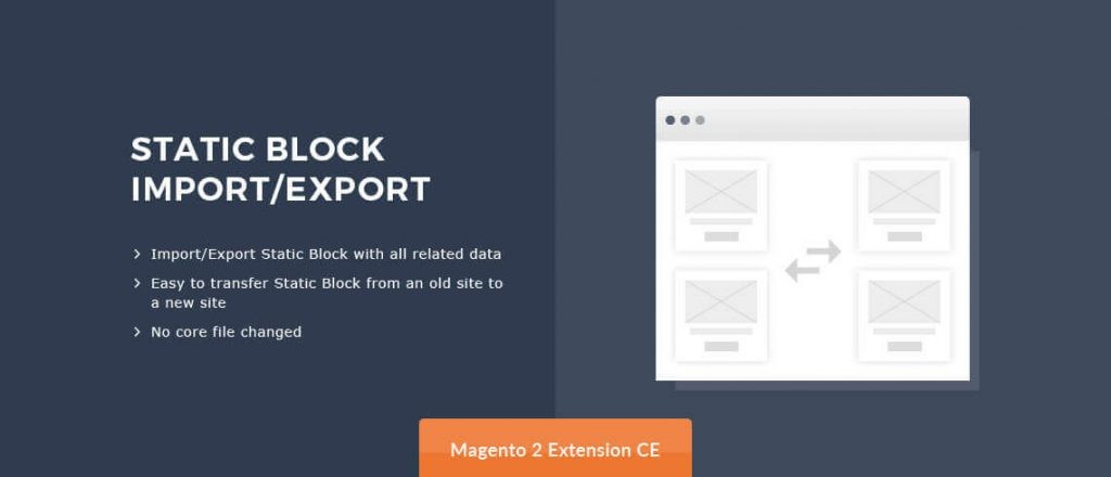 Static Block Import/Export - Magento 2 Extension
