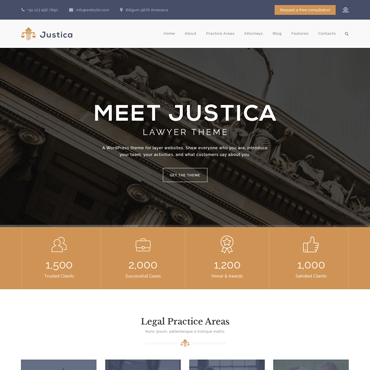 Justica - Lawyer WordPress Theme