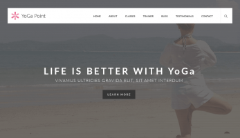 YoGa Point – Home page Banner