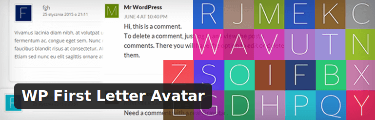 WP First Letter Avatar - WordPress Plugin