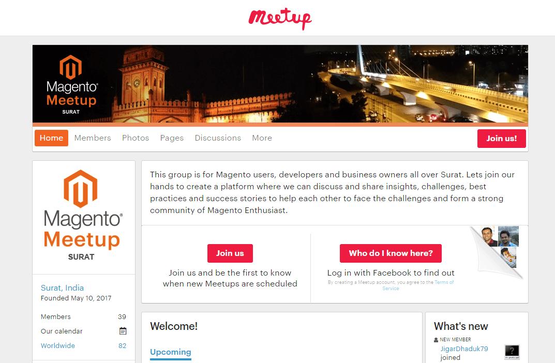 Surat Magento Meetup page