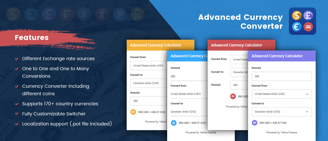 Advanced Currency Converter - WordPress Plugin