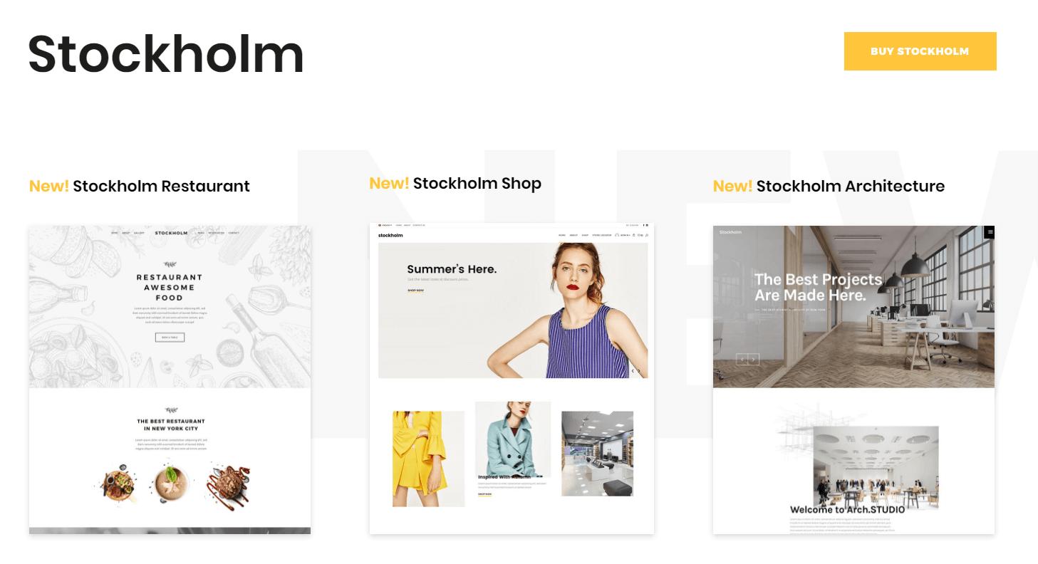 Stockholm WordPress themes