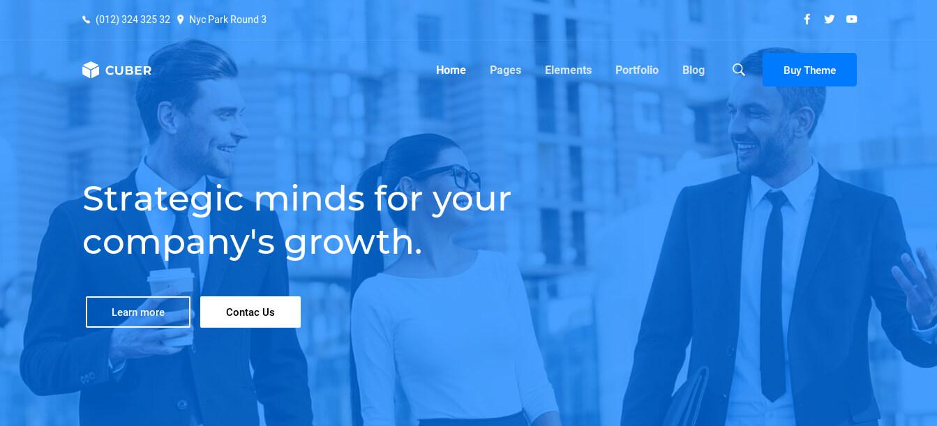 Cuber - Responsive Multipurpose WordPress Theme