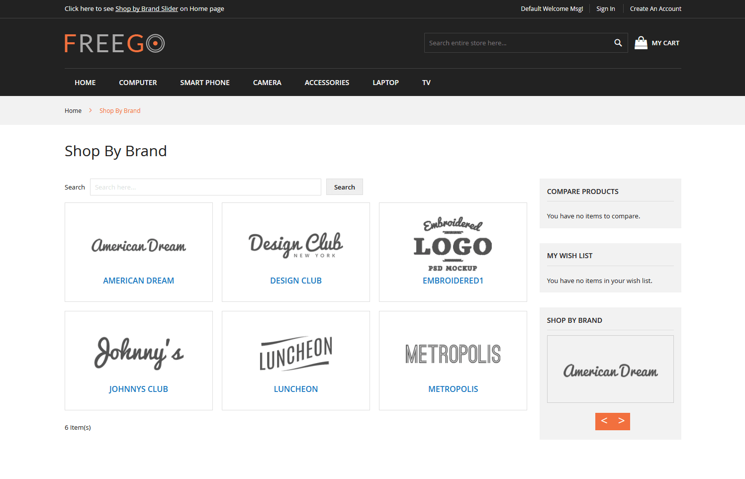 Shop By Brand - Magento 2 Extension