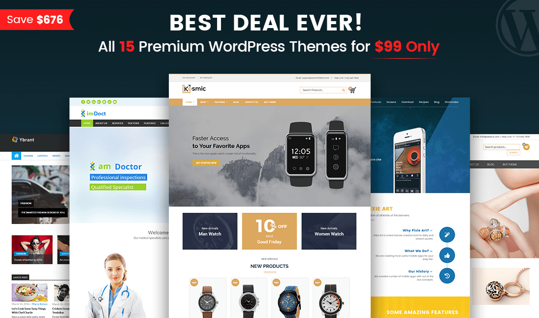 wordpress themes developer pack - solwin infotech