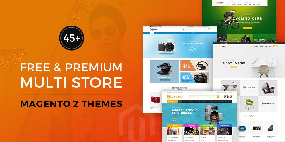 Free Premium Multi store Magento 2 Themes