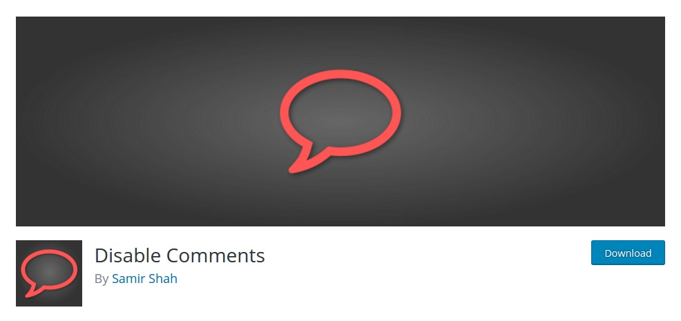 Disable Comments – WordPress plugin
