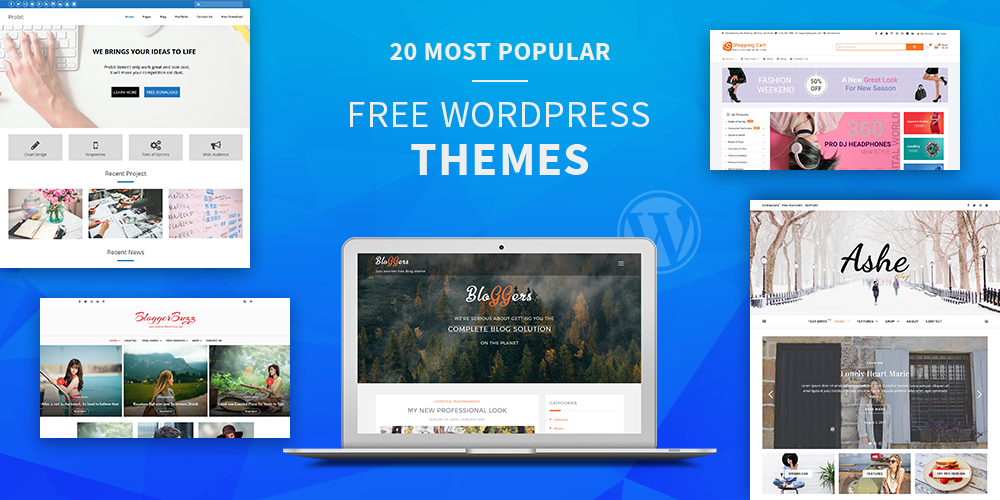 Most Popular Free WordPress Themes