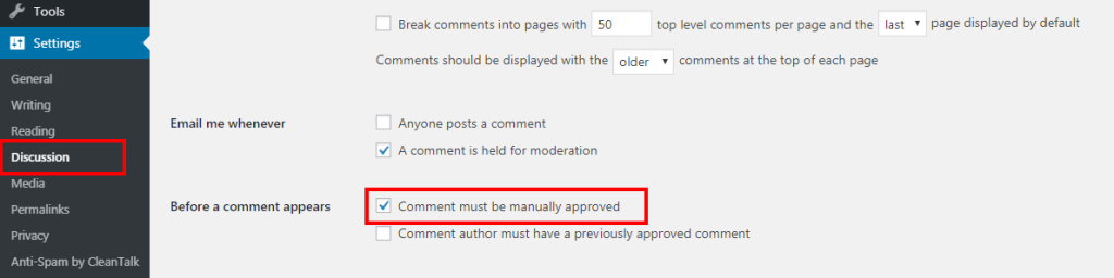 approved comments