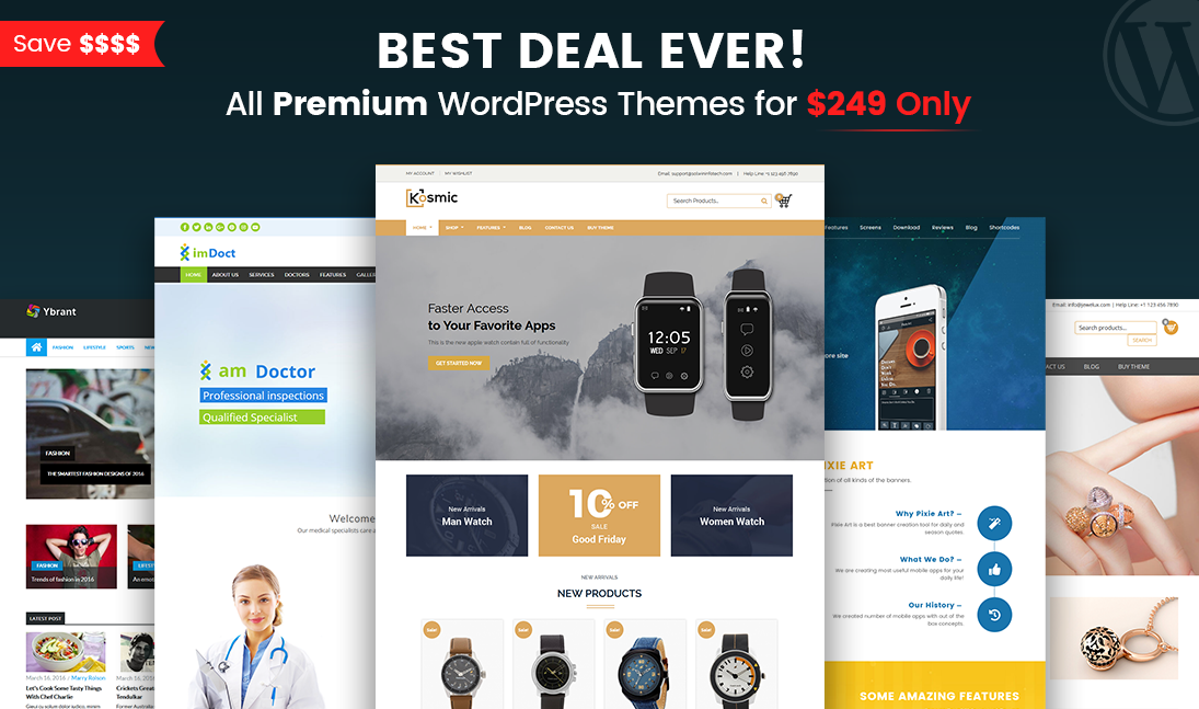 wordpress themes lifetime access pack - solwin infotech