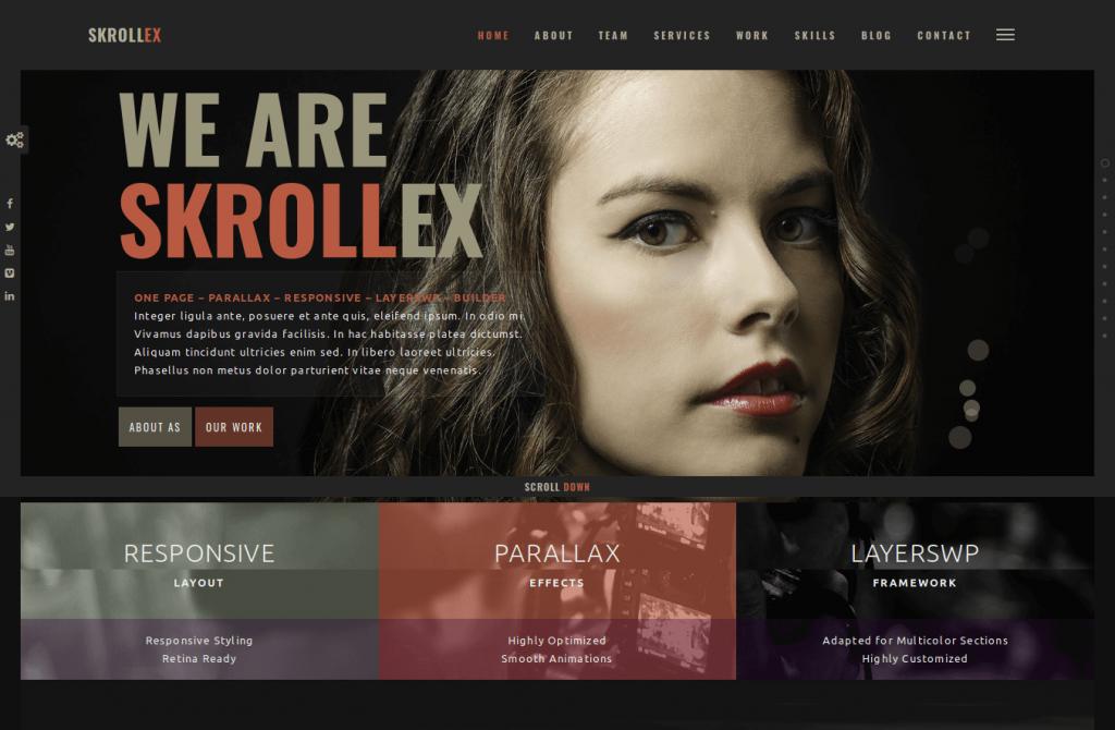 Skrollex WordPress Theme