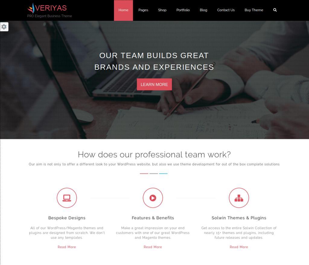 Veriyas Pro Responsive WordPress Theme