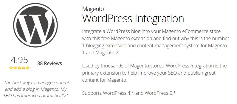 Magento WordPress Integration Plugin