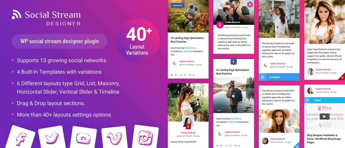 Social Stream Designer WordPress Plugin - Solwin Infotech