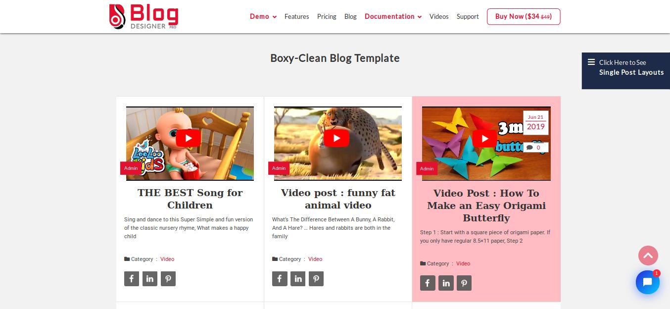 Blog Designer Pro WordPress Plugin